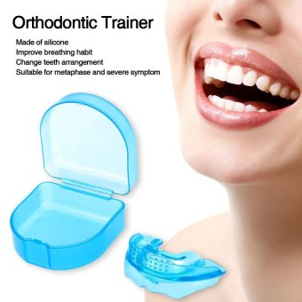 1Pc Orthodontic Trainer Teeth Alignment Straight Teeth System Adult Mouthpieces Brace Dental Tray Mouthguard With Box - intl