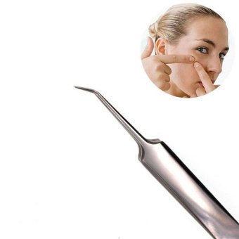 1Pcs Blackhead Tweezer Splinter Remover Tools Easily Cure Pimples Whiteheads Comedones Acne Zit Ingrown Hairs and Facial Impurities Surgical Stainless Steel by Team-Management - intl