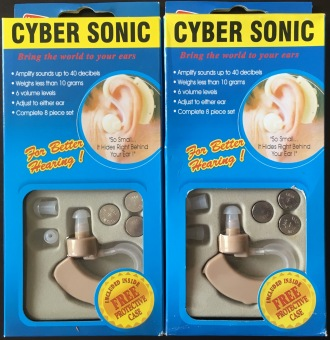 2 Sets of Cyber Sonic JH-11 Adjustable Hearing Assistance Aid Kit