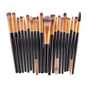 20PC Cosmetic Makeup Sets Brush Lip Makeup Brush Eyeshadow Brushkit -black