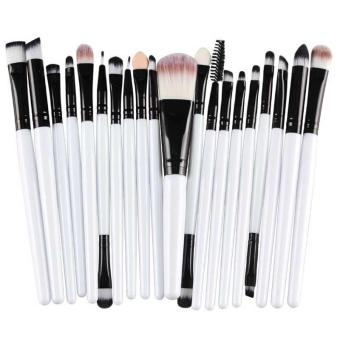 20PCS Make Up Brushes Cosmetic Plastic Handle Basic Makeup BrushSet - intl