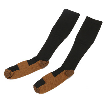 2Pcs Unisex Copper Infused Anti-Fatigue Compression Socks Varicose Vein Stocking L/XL - Intl
