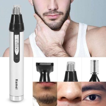 3 In 1 Rechargeable Mens Hair Removal Nose Ear Temple TrimmerElectric Clipper Grooming Kit - intl