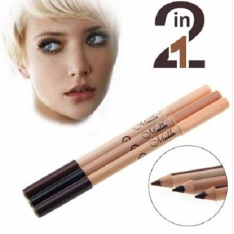 3 Pcs. 2 in 1 Eyeliner Eyebrow Pencil Contour Concealer Pencil
