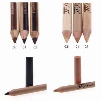 3 Pcs. 2 in 1 Eyeliner Eyebrow Pencil Contour Concealer Pencil - 4