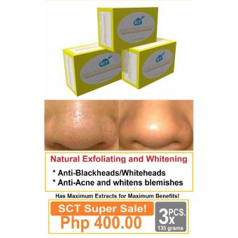 3 Pieces SCT Kojic Tea Tree Whitening Soap for Men and Women