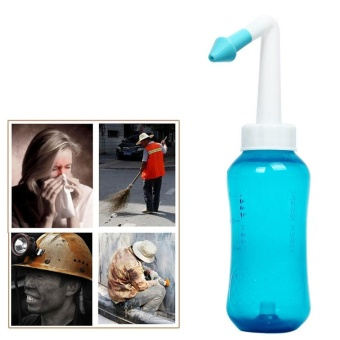300ml Nasal Wash Neti Pot Nose Cleaner Bottle Nasal Irrigator Saline Allergic - intl