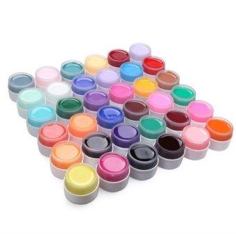 36 Pots Pure Colors Decor UV Nail Gel Art Tips Shiny Cover Extension Manicure - picture 2