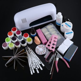 36W Cure Lamp Dryer UV Gel Nail Art Tools Full Set - intl