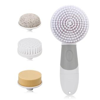 4 In 1 Electric Facial Cleanser Deep Cleansing Skin Care BlackheadRemoval Washing Brush Massager Face Body Exfoliator Scrub(...) -intl