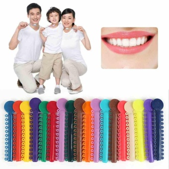 40pcs Sticks Multi Color Dental Ligature Ties Orthodontics ElasticPlastic Bands - intl