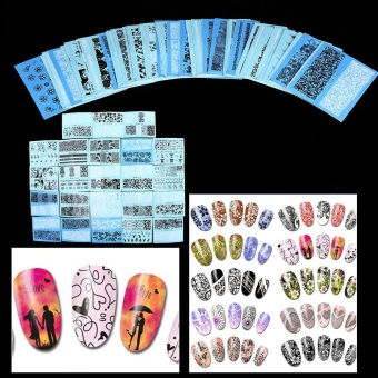 48 Sheets Lace Flower Nail Art Water Transfer Stickers ManicureDecals - intl