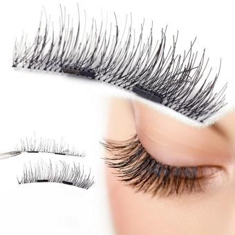 4pcs (1 Pair) Magnetic Eye Lashes 3D Reusable False MagnetEyelashes Extension - intl - 5