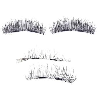4pcs (1 Pair) Magnetic Eye Lashes 3D Reusable False MagnetEyelashes Extension - intl - 2