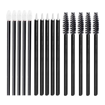 50 PCS Disposable Lip Brushes Lipstick Glossy Wands Applicator + 50 PCS Eyeliner Brushes + 50 PCS Eyelash Mascara Brushes Makeup Tool Kit - intl