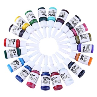 5ml 20 Colors / Kit Pigments Tattoo Inks(multicolor) - intl