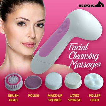 6 in 1 Multifunction Electrical Facial Cleansing Brush Face Body Massager