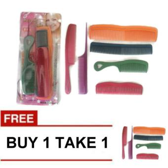 6 Pcs. Assorted Color & Design Plastic Hair Comb Buy 1 Take 179g