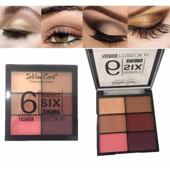 6 Perfect Colors Fashion Eyeshadow Eye Shadow Makeup Palette #01 8g