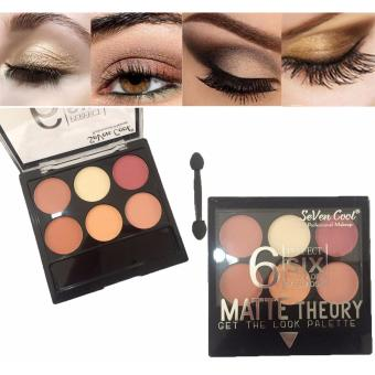 6 Perfect Colors Matte Theory Eyeshadow Eye Shadow Makeup Palette#02 12g