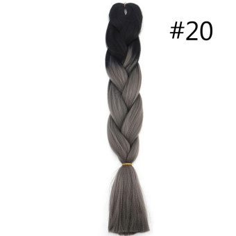 60CM Kanekalon Ombre Synthetic Jumbo Braiding Hair Extension Afro Twist Braids 20# - intl