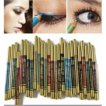 6pcs automatic 3 in 1 eyeshadow eyeliner and lipliner pencil assorted colors