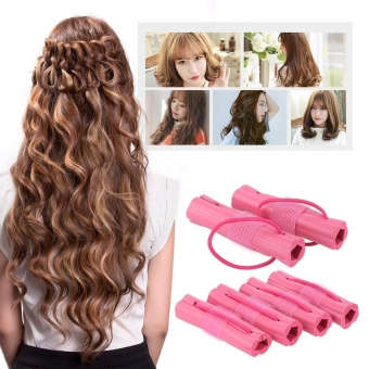 6pcs Magic Foam Sponge Hair Curler DIY Fashion Wavy Hair Travel Home Use Soft Hair Curler Rollers Styling Tools - intl