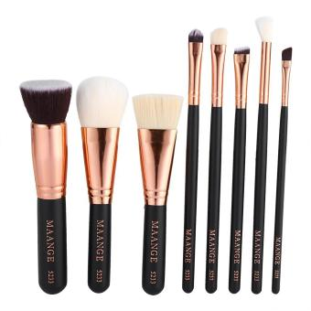 8pcs Cosmetic Brush Foundation Eye Lip Makeup Tool(Black) - intl