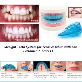 A retainer + Box Orthodontic Straight Teeth for Teens & Adult (Clear)