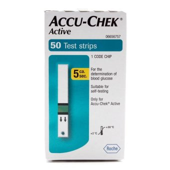 Accu-Check Blood Glucose Test Strips of 50 Blood Sugar Test Strips