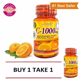 Acorbic C-1000mg Vitamin C Supplement (30 Capsules ) - Buy 1 Take 1