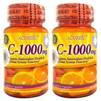 Acorbic C-1000mg Vitamin C Supplement bottle of 30 bundle of 2