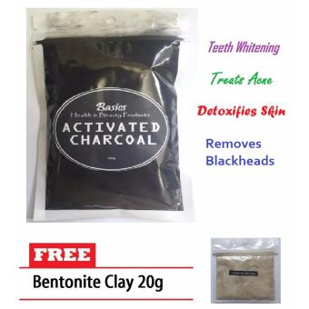 Activated Charcoal 100g w/ FREE Bentonite Clay 20g