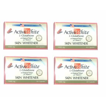 Active White L-Glutathione 1000mg 60capsules set of 4