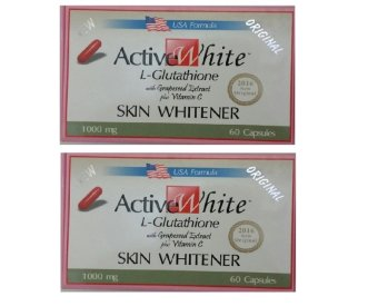 Active White L-Glutathione 1000ml 60 capsules (Combo pack)