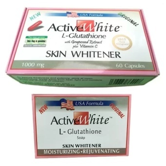Active White L-Glutathione 60 Capsules 1000mg and Soap Bundle