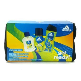 Adidas Get Ready Set (Eau de Toilette 100ml + Deo Spray 150ml +Shower Gel 250ml + Toiletry Bag) Price Philippines