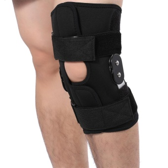 Adjustable Knee Brace Pad Support Leg Protector Compression Sleeves Safety Strap (L) - intl