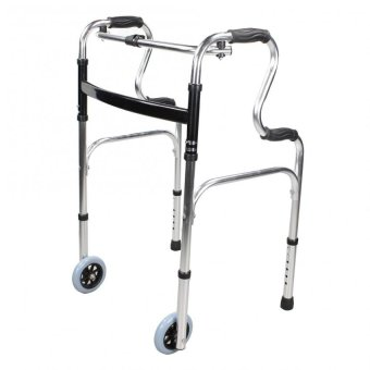 Adjustable Lightweight Adult Walker with Front Wheels