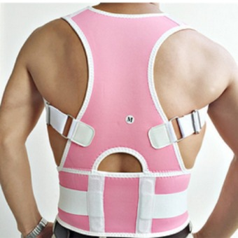 Adjustable Posture Back Lumbar Support Corrector Brace Shoulder Band Belt Pink L Comfortable Price Philippines