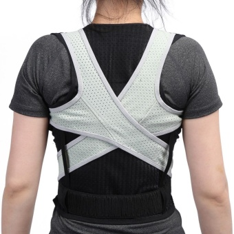 Adult Students Posture Shoulder Back Corrector Lumbar Waist Support Correction Belt(L) - intl Price Philippines