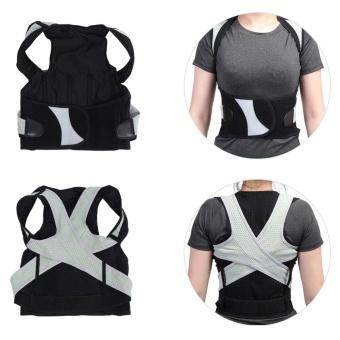 Adult Students Posture Shoulder Back Corrector Lumbar Waist SupportCorrection Belt(XL) - intl - 3