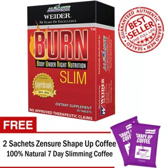 Aim Global Burn Slim 30 Tablets With Free 2 Sachets