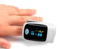Alarm&BP Fingertip Pulse Oximeter Blood Oxygen Saturation SpO2Monitor with Lanyard Blue Color:Pink Size: - intl - 5