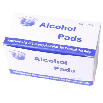 Alcohol Swab Wipe Skin Cleansing 70 Percent Isopropyl AntisepticDisinfection 100 Pads - 3