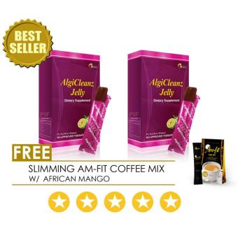 AlgiCleanz Dietary Supplement Fat Burner Slimming Jelly, Boxes of 2w/ FREE Amfit slimming Coffee