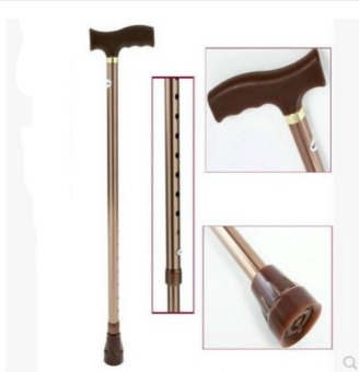 All-aluminum Alloy Thicker Footstraps Old Man Walking Sticks Walker 10 Strokes Adjust Old Crutches - intl Price Philippines