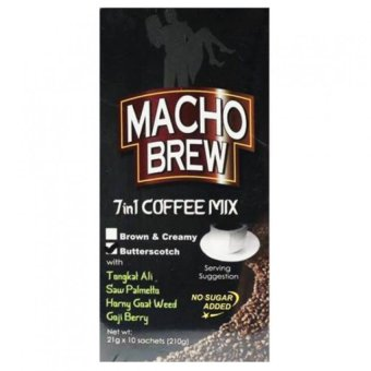Alliance Global Macho Brew 7 in 1 Coffee Mix Box of 10 Sachets Price Philippines