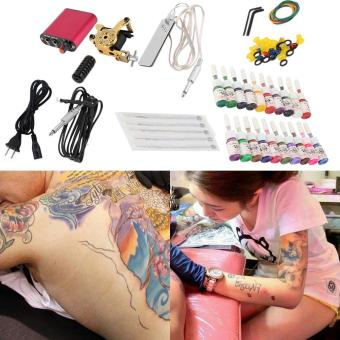 Allwin New Tattoo Machines Gun Equipment Power Supply 20 Color Ink Cup Tattoo Set Price Philippines