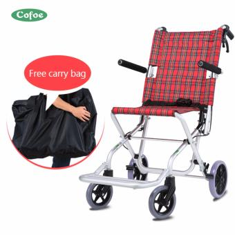 Aluminum Folding Portable Wheel chair Free carry bag- intl